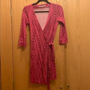 DVF Pink Wrap Dress